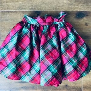 OshKosh plaid girls bow skirt sz 4T